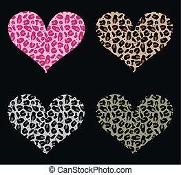 animal hearts - hearts in animal pattern