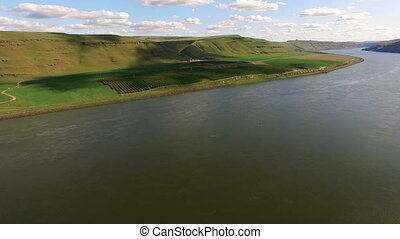 Snake River Valley Landscape Washington State Agriculture...