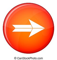 Big arrow icon, flat style - Big arrow icon in red circle...
