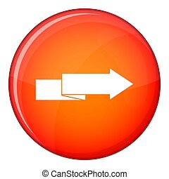 Arrow to right icon, flat style - Arrow to right icon in red...