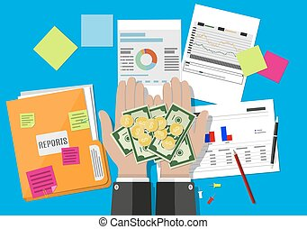Financial reports Clipart Vector and Illustration. 324 Financial ...