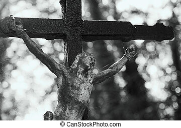 Holy cross with crucified Jesus Christ (religion, faith, holy, sin)