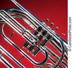 Marching French Horn Close - A marching French horn up close...