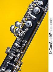 雙簧管, 向上, 特寫鏡頭, 上, 黃色