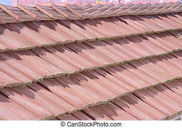 cedar roof shakes - liked the texture and shading of this...