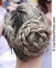 wedding coiffure - bride with wedding coiffure