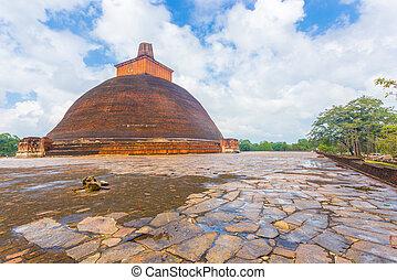 Anuradhapura Jetavanaramaya Stupa Wet Base Edge - Wet...