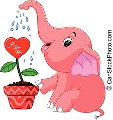 elephant cartoon - ilustration of cute elephant cartoon