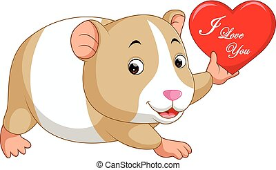 hamster cartoon - ilustration of cute hamster cartoon