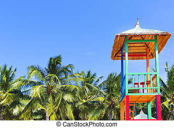 Open lifeguard tower, Nha Trang, Vietnam - Open lifeguard...