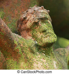Face of Jesus Christ crown of thorns (fragment of antique statue)