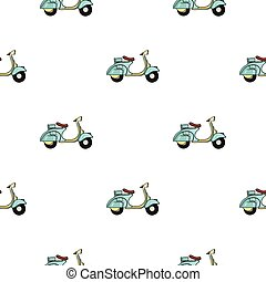 Italian scooter from Italy icon in cartoon style isolated on...