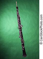 雙簧管, 綠色, 被隔离, 完成