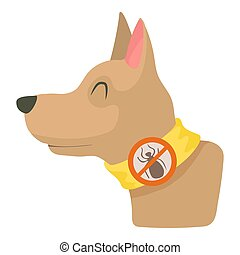 Dog collar icon, cartoon style