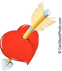 Heart and arrow. Symbol love for saint Valentines day....