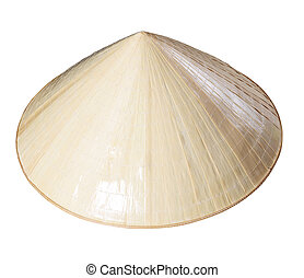 Vietnamese Conical hat isolated on white background
