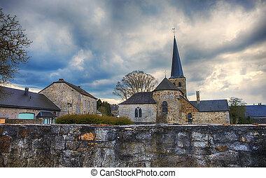 比利時, 老,  durbuy, 教堂