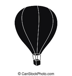 Airballoon icon in black style isolated on white background....