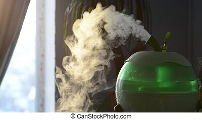 air humidifier disperses moisture. The body is made in the...