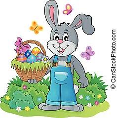 Bunny holding Easter basket