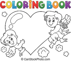 Coloring book Cupid