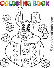 Coloring book Easter rabbit theme 4 - Coloring book Easter...