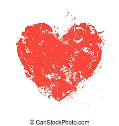 Heart painted symbol vector