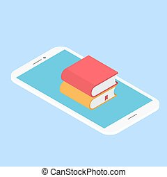 E-book mobile. Vector illustration .