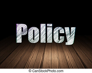 Insurance concept: Policy in grunge dark room - Insurance...