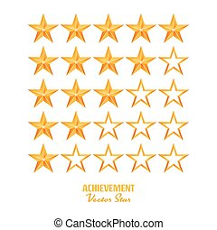 Achievement Vector Stars. For Game And Review Rating. Like...