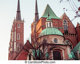 Wroclaw, Cathedral of St. John in Wroclaw - Wroclaw, Poland,...