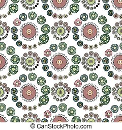 Bright Varicolored seamless pattern white background. Vector...