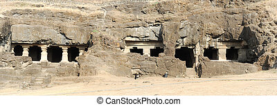 Ellora caves near Aurangabad in India - Ellora caves near...