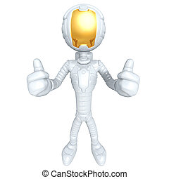 Astronaut - 3D Cartoon Astronaut Concept And Presentation...
