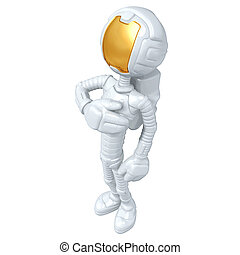 Astronaut - A Concept And Presentation Illustration In 3D