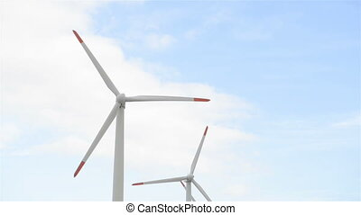Wind Turbines electricity - wind turbine generating...
