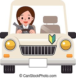 Woman riding in the car
