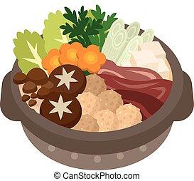 Illustration of casserole - Vector illustration.Original...