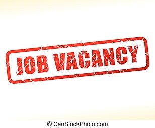 job vacancy text stamp