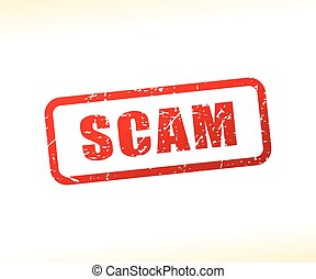 scam text stamp - Illustration of scam text stamp