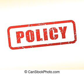 policy text stamp - Illustration of policy text stamp