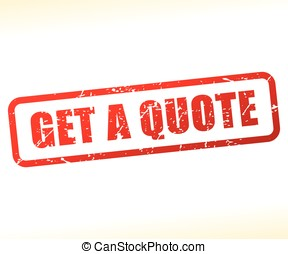 get a quote text stamp
