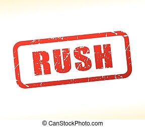 rush text stamp