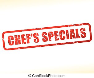 chefs specials text stamp - Illustration of chefs specials...