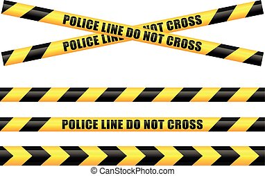 police tape line - Illustration of police tape line