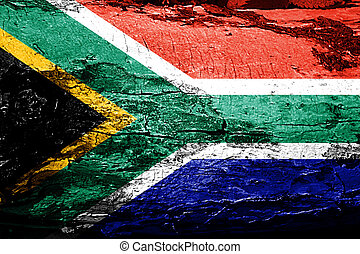 South africa flag with grunge texture