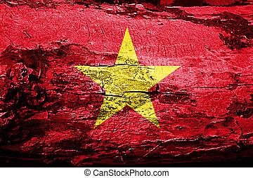 Vietnam flag with grunge texture