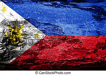 Philippines flag with grunge texture