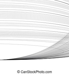 Vector abstract background with parallel curved lines