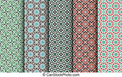 Vector Set of Geometric Patterns - Seamless patterns with...